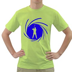The man with the golden bat Mens  T-shirt (Green)