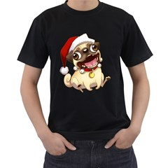 Pug Mens' T-shirt (Black)