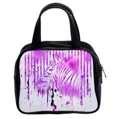 The Hidden Zebra Classic Handbag (Two Sides)