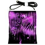 The Hidden Zebra Shoulder Sling Bag Front