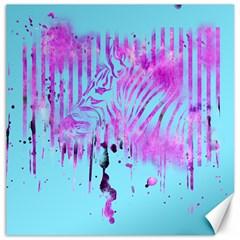 The Hidden Zebra Canvas 16  X 16  (unframed)