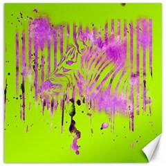 The Hidden Zebra Canvas 12  x 12  (Unframed)