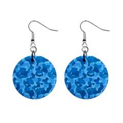Blue1 Mini Button Earrings
