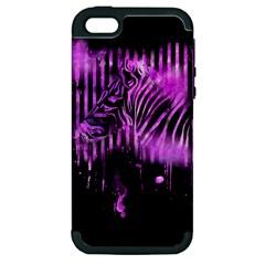 The Hidden Zebra Apple iPhone 5 Hardshell Case (PC+Silicone)