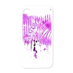 The Hidden Zebra Apple iPhone 4 Case (White)