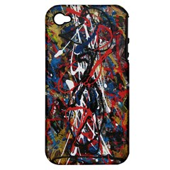 Abstract 2 Apple Iphone 4/4s Hardshell Case (pc+silicone)