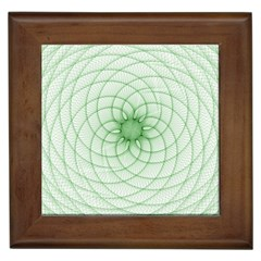 Spirograph Framed Ceramic Tile