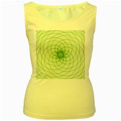 Spirograph Womens  Tank Top (Yellow)
