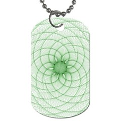 Spirograph Dog Tag (Two-sided)