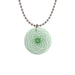 Spirograph Button Necklace
