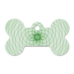 Spirograph Dog Tag Bone (One Sided)