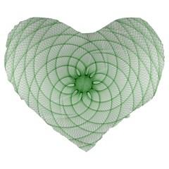 Spirograph 19  Premium Heart Shape Cushion