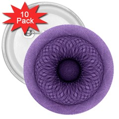 Mandala 3  Button (10 pack)