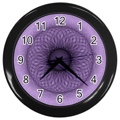 Mandala Wall Clock (Black)
