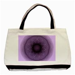 Mandala Twin-sided Black Tote Bag