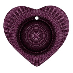 Mandala Heart Ornament (Two Sides)