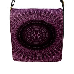 Mandala Flap Closure Messenger Bag (Large)