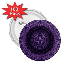 Mandala 2 25  Button (100 Pack)