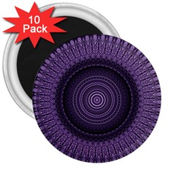 Mandala 3  Button Magnet (10 Pack)