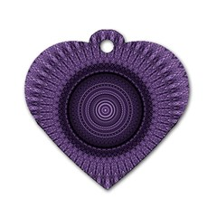 Mandala Dog Tag Heart (two Sided)