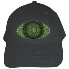 Mandala Black Baseball Cap