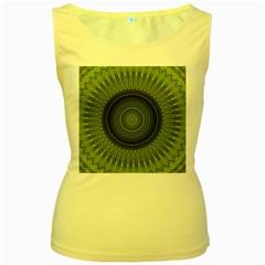Mandala Womens  Tank Top (Yellow)