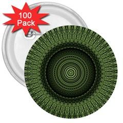 Mandala 3  Button (100 Pack)