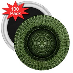 Mandala 3  Button Magnet (100 pack)