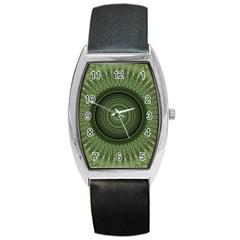Mandala Tonneau Leather Watch