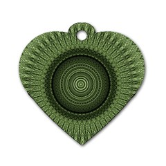 Mandala Dog Tag Heart (one Sided)