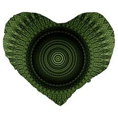 Mandala 19  Premium Heart Shape Cushion