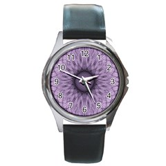 Mandala Round Metal Watch (Silver Rim)