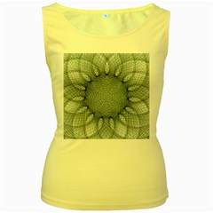 Mandala Womens  Tank Top (Yellow)