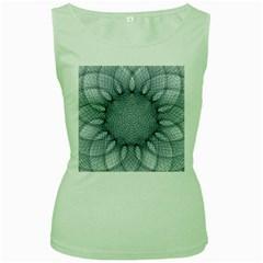 Mandala Womens  Tank Top (Green)