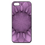 Mandala Apple iPhone 5 Seamless Case (Black) Front