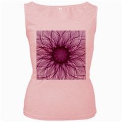 Mandala Womens  Tank Top (pink)