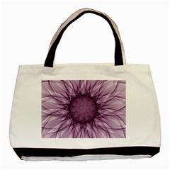 Mandala Twin Sided Black Tote Bag