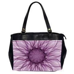 Mandala Oversize Office Handbag (Two Sides)