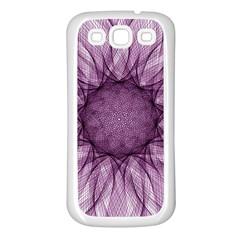 Mandala Samsung Galaxy S3 Back Case (White)