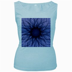Mandala Womens  Tank Top (Baby Blue)