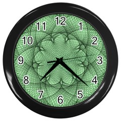 Spirograph Wall Clock (black)