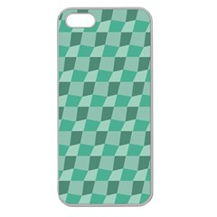 Aqua Apple Seamless iPhone 5 Case (Clear)