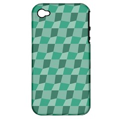 Aqua Apple iPhone 4/4S Hardshell Case (PC+Silicone)