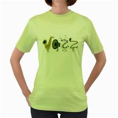 J A Z Z Womens  T-shirt (Green)