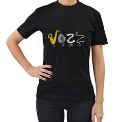 J A Z Z Womens' T-shirt (Black)
