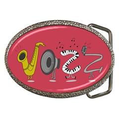 Jazz Belt Buckle (oval)