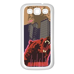 Urban Bear Samsung Galaxy S3 Back Case (White)