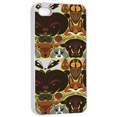 Leaders of the Forest Apple iPhone 4/4s Seamless Case (White)