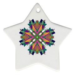 Modern Art Star Ornament