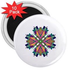 Modern Art 3  Button Magnet (10 pack)